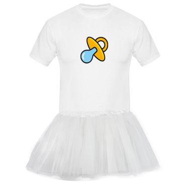 T-Shirt Schnullerfee + Tütü Tüllrock Karneval Kostüm süß 13 Farben Herren XS-5XL – Bild 4