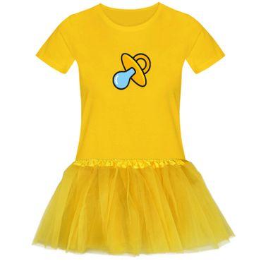 T-Shirt Schnullerfee + Tütü Tüllrock Karneval Kostüm süß 15 Farben Damen XS-3XL – Bild 13