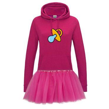 Hoodie Schnullerfee + Tütü Tüllrock Karneval Kostüm süß 10 Farben Damen XS - 2XL – Bild 1