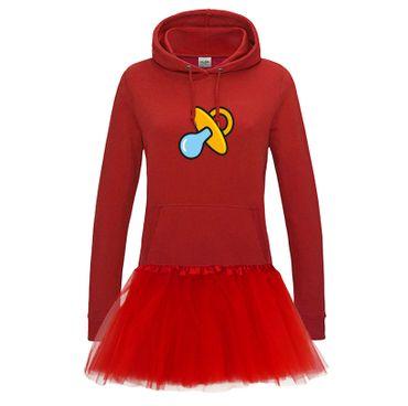 Hoodie Schnullerfee + Tütü Tüllrock Karneval Kostüm süß 10 Farben Damen XS - 2XL – Bild 9
