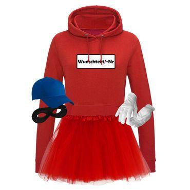 Hoodie Panzerknacker Deluxe+ Kostüm-Set + Tütü Karneval Fasching Damen XS - 2XL – Bild 10