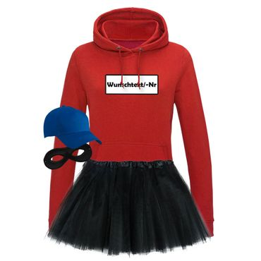 Hoodie Panzerknacker Deluxe+ Kostüm-Set + Tütü Karneval Fasching Damen XS - 2XL – Bild 18