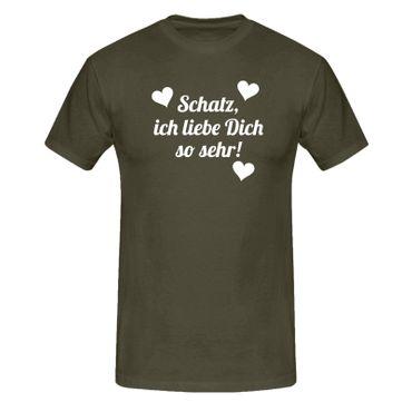 T-Shirt Schatz ich liebe dich so Spruch Herz Geschenk 13 Farben Herren XS-5XL – Bild 9