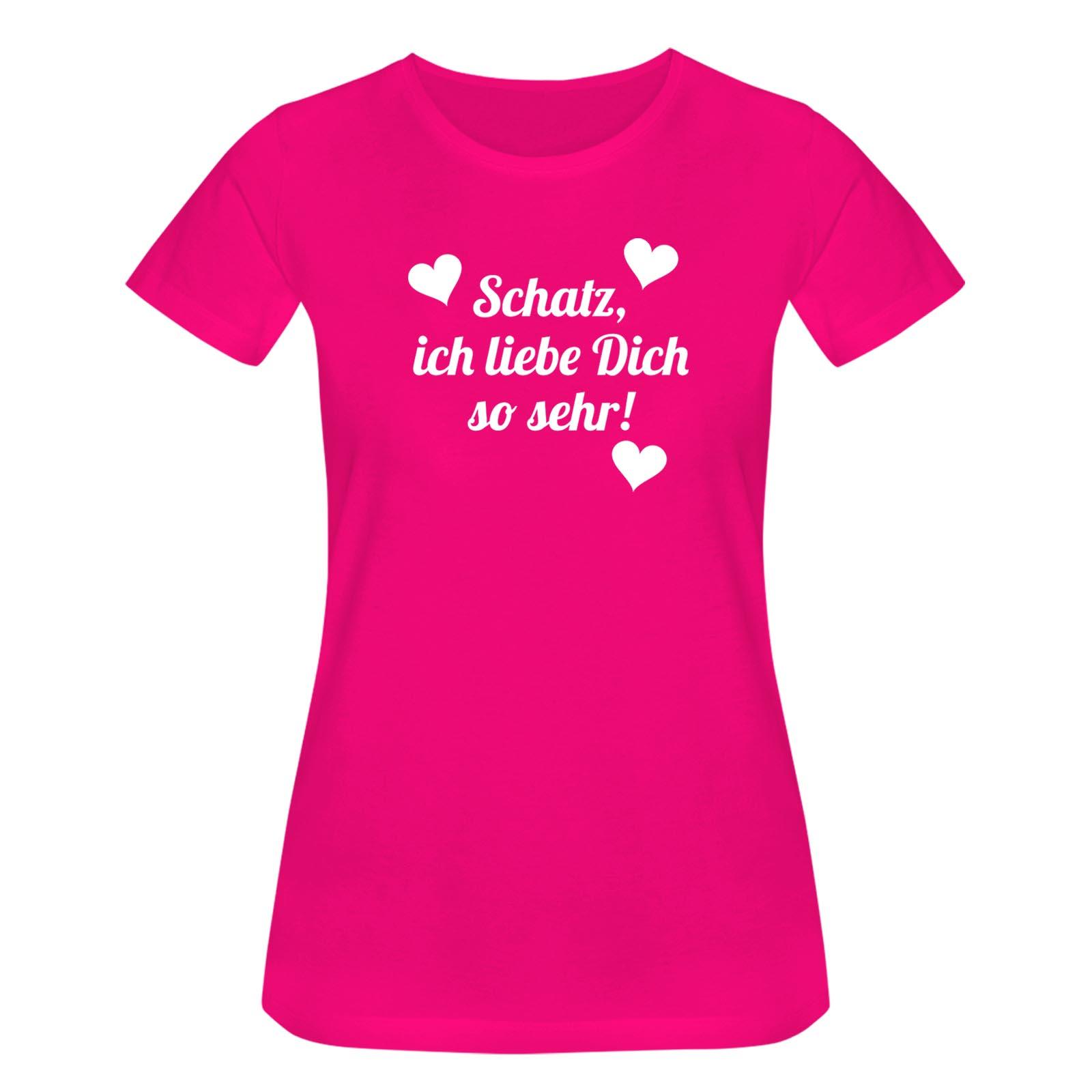 T Shirt Schatz Ich Liebe Dich So Spruch Herz Geschenk 15 Farben