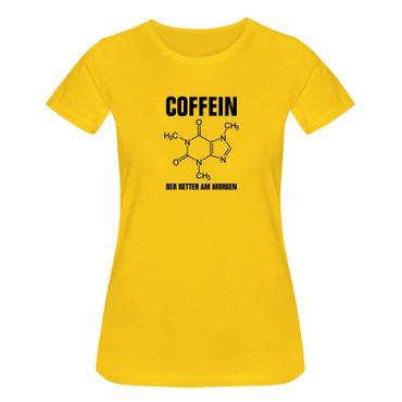T-Shirt Coffein Retter am Morgen Kaffee Spruch Humor Fun 15 Farben Damen XS-3XL – Bild 17