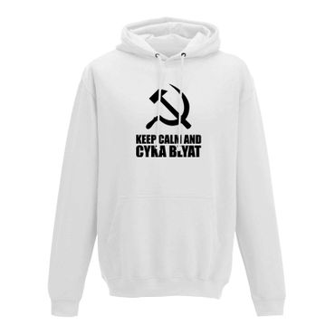 Hoodie Keep Calm and Cyka Blyat Meme Spruch Gamer Fun 10 Farben Herren XS-5XL – Bild 4