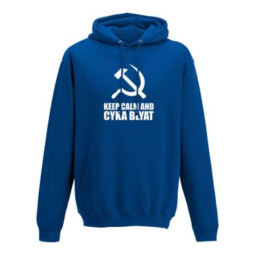Hoodie Keep Calm and Cyka Blyat Meme Spruch Gamer Fun 10 Farben Herren XS-5XL – Bild 8