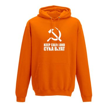 Hoodie Keep Calm and Cyka Blyat Meme Spruch Gamer Fun 10 Farben Herren XS-5XL – Bild 11