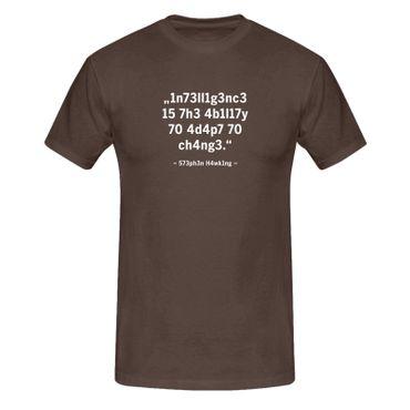 T-Shirt Intelligence Leetspeak Stephen Hawking Fun-Shirt 13 Farben Herren XS-5XL – Bild 8