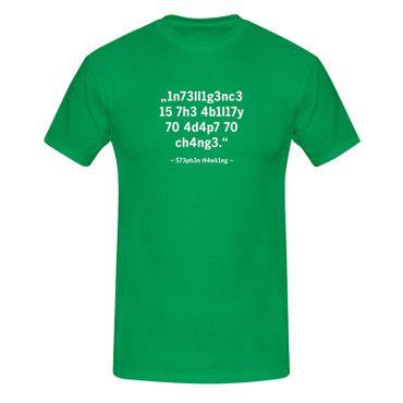 T-Shirt Intelligence Leetspeak Stephen Hawking Fun-Shirt 13 Farben Herren XS-5XL – Bild 10