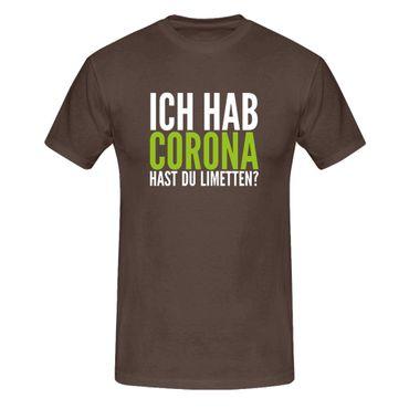 T-Shirt Hast Du Limetten? Corona Spruch Fun-Shirt Party 13 Farben Herren XS-5XL – Bild 8