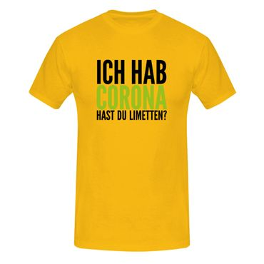 T-Shirt Hast Du Limetten? Corona Spruch Fun-Shirt Party 13 Farben Herren XS-5XL – Bild 15