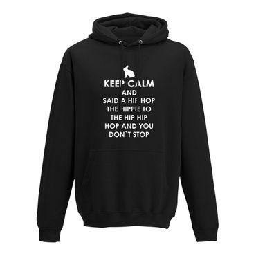 Hoodie Keep Calm Hip Hop Osterhase Ostern Eiersuche 10 Farben Herren XS - 5XL – Bild 3