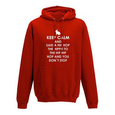 Hoodie Keep Calm Hip Hop Osterhase Ostern Eiersuche 10 Farben Herren XS - 5XL – Bild 10