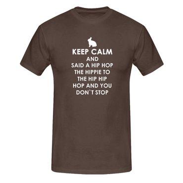 T-Shirt Keep Calm Hip Hop Osterhase Ostern Eiersuche 13 Farben Herren XS-5XL – Bild 8