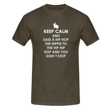 T-Shirt Keep Calm Hip Hop Osterhase Ostern Eiersuche 13 Farben Herren XS-5XL – Bild 9