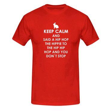 T-Shirt Keep Calm Hip Hop Osterhase Ostern Eiersuche 13 Farben Herren XS-5XL – Bild 13