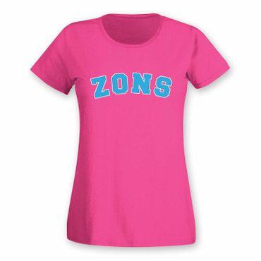 T-Shirt Zons College Style Geschenk Präsent Dormagen 8 Farben Damen XS-3XL