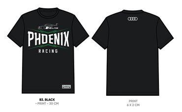 "T-Shirt ""R8 LMS - PHOENIX RACING"" Damen schwarz – Bild 2"