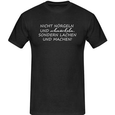 T-Shirt nicht labern sondern machen Fun-Shirt Spruch 13 Farben Herren XS-5XL – Bild 1