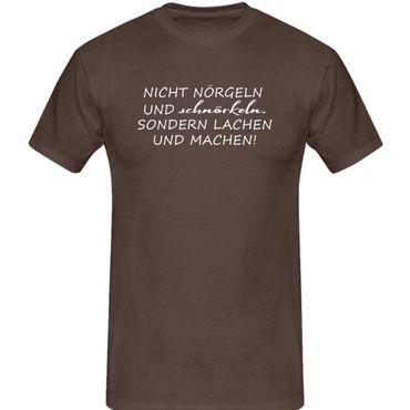 T-Shirt nicht labern sondern machen Fun-Shirt Spruch 13 Farben Herren XS-5XL – Bild 8