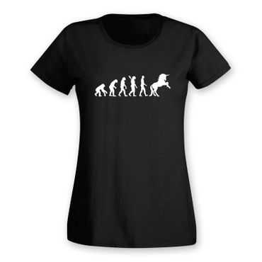 T-Shirt Evolution Einhorn Unicorn Beauty Pferd Prinzessin 15 Farben Damen XS-3XL – Bild 3