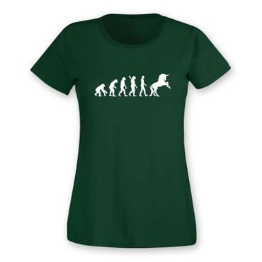 T-Shirt Evolution Einhorn Unicorn Beauty Pferd Prinzessin 15 Farben Damen XS-3XL – Bild 8
