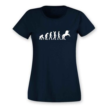 T-Shirt Evolution Einhorn Unicorn Beauty Pferd Prinzessin 15 Farben Damen XS-3XL – Bild 10