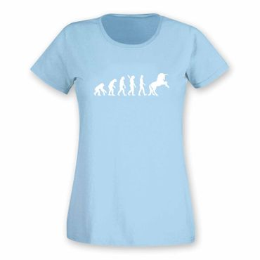 T-Shirt Evolution Einhorn Unicorn Beauty Pferd Prinzessin 15 Farben Damen XS-3XL – Bild 13
