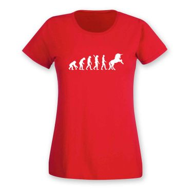 T-Shirt Evolution Einhorn Unicorn Beauty Pferd Prinzessin 15 Farben Damen XS-3XL – Bild 15