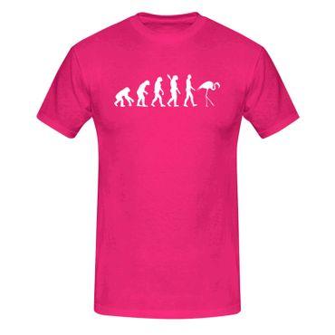 T-Shirt Evolution Flamingo Vogel Pool CSD Keys Florida 13 Farben Herren XS - 5XL