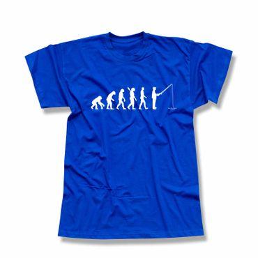 T-Shirt Evolution Angler Fischer Meer angeln Fischermann 13 Farben Herren XS-5XL – Bild 12