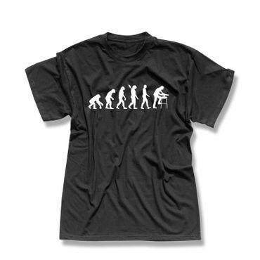 T-Shirt Evolution Zimmermann Schreiner Handwerker Holz 13 Farben Herren XS - 5XL