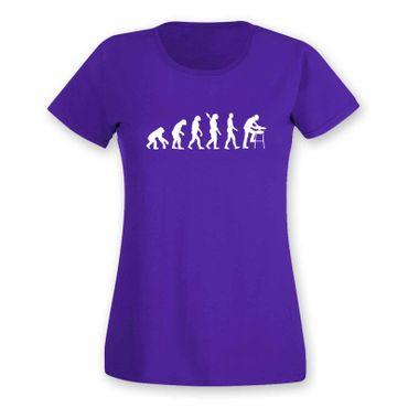 T-Shirt Evolution Zimmermann Dachdeckerin Schreinerin15 Farben Damen XS - 2XL – Bild 14