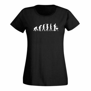 T-Shirt Evolution Grillmeisterin grillen BBQ Koch Weber 15 Farben Damen XS - 3XL – Bild 3