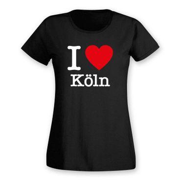 Köln T-Shirt Damen I love (Herz) Präsent Dormagen Geschenk 9 Farben XS-2XL – Bild 3