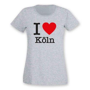 Köln T-Shirt Damen I love (Herz) Präsent Dormagen Geschenk 9 Farben XS-2XL – Bild 5