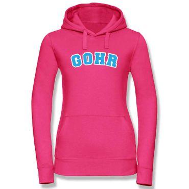 Hoodie Gohr College Style Geschenk Präsent Dormagen 8 Farben Damen XS-XL – Bild 1