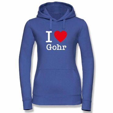 Hoodie I Love Gohr Herz Präsent Dormagen Geschenk 9 Farben Damen XS-XL – Bild 1