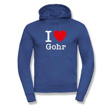 Hoodie I Love Gohr Herz Präsent Dormagen Geschenk 9 Farben Herren XS-3XL – Bild 8