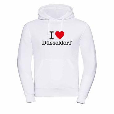 Düsseldorf Hoodie Herren I love (Herz) Präsent Geschenk 9 Farben XS-3XL – Bild 1