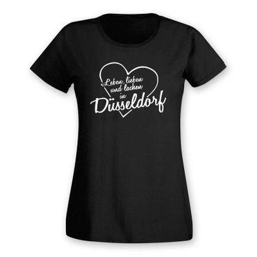 Düsseldorf T-Shirt Damen Leben lieben lachen Geschenk 11 Farben XS - 2XL – Bild 3