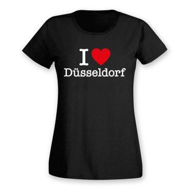 Düsseldorf T-Shirt Damen I love (Herz) Präsent Geschenk 9 Farben XS-2XL – Bild 3