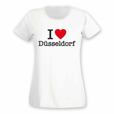 Düsseldorf T-Shirt Damen I love (Herz) Präsent Geschenk 9 Farben XS-2XL – Bild 4