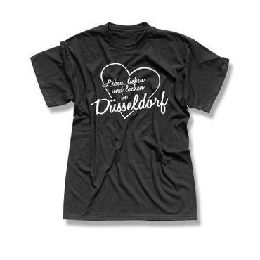 Düsseldorf T-Shirt Herren Leben lieben lachen Geschenk 10 Farben XS-5XL – Bild 3