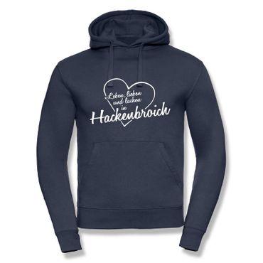 Hackenbroich Hoodie Herren Leben lieben lachen Geschenk Dormagen 9 Farben XS - 3XL