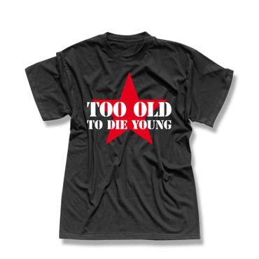 T-Shirt Too old to die Spruch Fun Harley Biker Davidson 13 Farben Herren XS-5XL – Bild 1