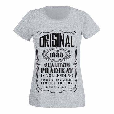 T-Shirt 35. Geburtstag Prädikat Vollendung Original 1985 35ster Damen XS - 3XL – Bild 7