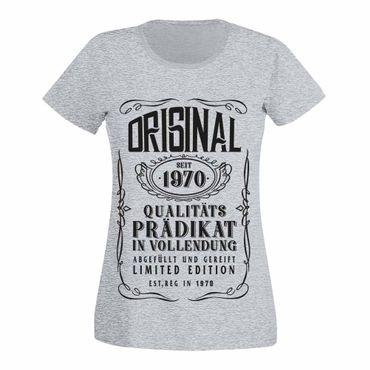 T-Shirt 50. Geburtstag Prädikat Vollendung Original 1970 50ster Damen XS - 3XL – Bild 7