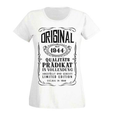 T-Shirt 75. Geburtstag Geschenk Idee Original Prädikat 1944 75ter Damen XS - 3XL – Bild 4